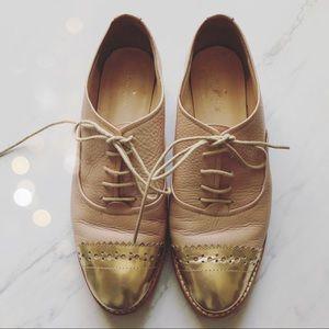 kate spade Shoes - Kate Spade Sz 7 Poppin Oxfords Gold
